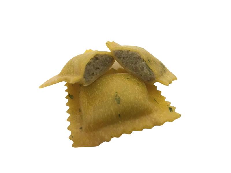 Pasta Fresca Ripiena Ravioli Asparagi e Salsiccia